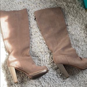Leather cole haan knee boots